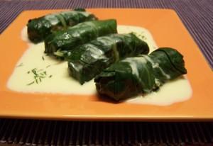 Bettes farcies au boulgour plat du jour recettes de - Cuisiner les cotes de bettes ...