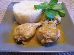 Pilons de poulet sauce curry coco plat du jour - Comment cuisiner des pilons de poulet ...